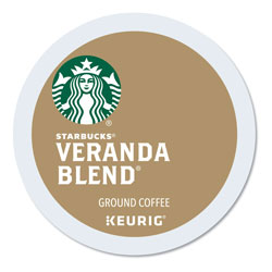 Starbucks Veranda Blend Coffee K-Cups Pack, 24/Box