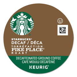 Starbucks Pike Place Decaf Coffee K-Cups Pack, 24/Box