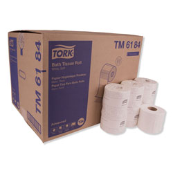Tork Advanced Bath Tissue, Septic Safe, 2-Ply, White, 550 Sheets/Roll, 80 Rolls/Carton