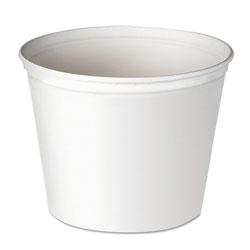 Solo Double Wrapped Paper Bucket, Waxed, White, 165oz, 100/Carton