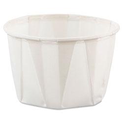Dart Paper Portion Cups, 2oz, White, 250/Bag, 20 Bags/Carton