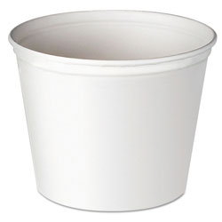 Solo Double Wrapped Paper Bucket, Unwaxed, White, 53 oz, 50/Pack