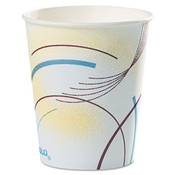 Solo Paper Water Cups, 5 oz., Cold, Meridian Design, Multicolored, 100/Sleeve, 25 Sleeves/Carton