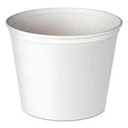 Browning Double Wrapped Paper Bucket, Unwaxed, White, 83oz, 100/Carton