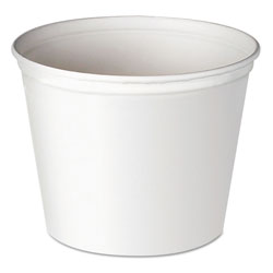Solo Double Wrapped Paper Bucket, Waxed, White, 83oz, 100/carton