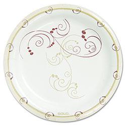 Dart Symphony Paper Dinnerware, Mediumweight Plate, 8 1/2 in, Tan, 500/Carton