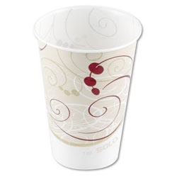 Solo Waxed Paper Cold Cups, 7 oz, Symphony Design