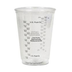 Solo Plastic Medical & Dental Cups, Graduated, 10 oz, Clear, 50/Bag, 20 Bags/Carton