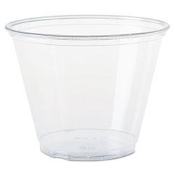 Solo Ultra Clear Cups, Squat, 9 oz, PET, 50/Bag, 1000/Carton