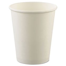 Solo Uncoated Paper Cups, Hot Drink, 8oz, White, 1000/Carton