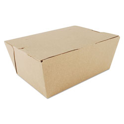 SCT ChampPak Carryout Boxes, #4, Kraft, 7.75 x 5.5 x 3.5, 160/Carton
