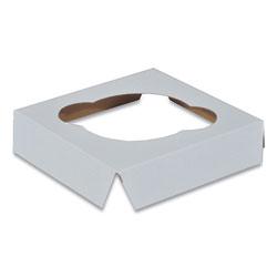 SCT Cupcake Holder Inserts, Paperboard, White/Kraft, 4.38 x 4.38 x 0.88, 200/Carton