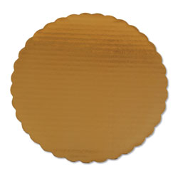 SCT Cake Pads, 10 in Dia, Gold, 200/Carton