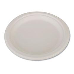 SCT ChampWare Heavyweight Bagasse Dinnerware, Plate, 9 in, White, 500/Carton