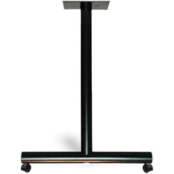 Special-T Stationary Legs, w/ Casters, 22 inWx2 inLx27-3/4 inH, Black