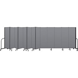"Screenflex Commercial Edition Portable Partition, Gray, 6' h x 24'1"" Open Length"