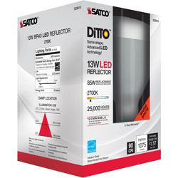 Satco Bulb, Led, 13W, E26, 2700K, 5-1/10 inX6-4/5 inX5-1/10 in , White