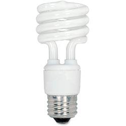 Satco CFL Spiral Bulb, 13 Watts, 4/Pack