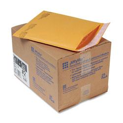 Paper Jiffylite® Jiffylite Self-Seal Bubble Mailer, #2, Barrier Bubble Lining, Self-Adhesive Closure, 8.5 x 12, Golden Brown Kraft, 25/Carton