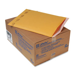Sealed Air Jiffylite Self-Seal Bubble Mailer, #6, Barrier Bubble Lining, Self-Adhesive Closure, 12.5 x 19, Golden Brown Kraft, 25/Carton