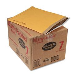 Sealed Air Jiffy Padded Mailer, #7, Paper Lining, Self-Adhesive Closure, 14.25 x 20, Natural Kraft, 50/Carton