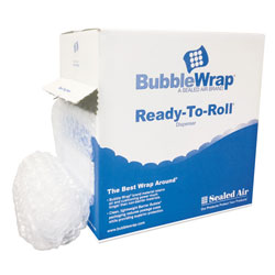 Paper Bubble Wrap® Bubble Wrap® Cushion Bubble Roll, 1/2 in Thick, 12 in x 65ft