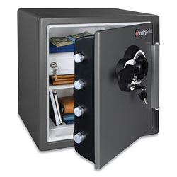 Sentry Fire/Waterproof 1.23 Cu Ft Combination with Key Safe, 16.3 x 19.3 x 17.8, Black