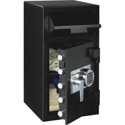 Sentry Depository Safe, 5 Live-Locking Bolts,14 inx15-3/5 inx27 in, BK