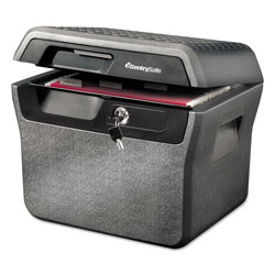 Sentry Waterproof Fire-Resistant File, 0.66 cu ft,16.63w x 13.88d x 14.13h, Charcoal Gray