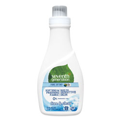 Seventh Generation Natural Liquid Fabric Softener, Free & Clear Unscented, 42 Loads, 32 oz Bottle