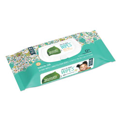 Seventh Generation Free & Clear Baby Wipes, Unscented, White, 64 Wipe Pack