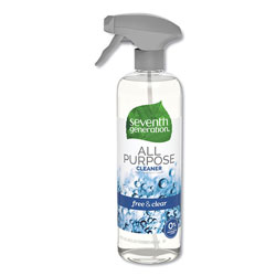 Seventh Generation Natural All-Purpose Cleaner, Free & Clear Unscented, 23 oz Bottle, 8 Bottles per Case