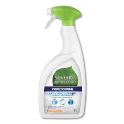Seventh Generation Professional Glass and Surface Cleaner, Free & Clear Unscented, 32 oz Spray Bottle, 8 Bottles per Case