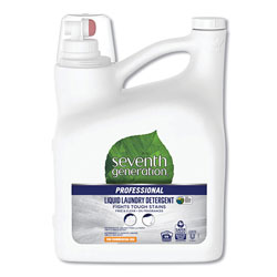 Seventh Generation Professional Liquid Laundry Detergent, Free & Clear Unscented, 150 oz Bottle, 4 Bottles per Case