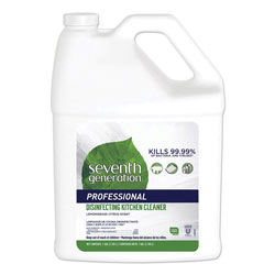 Seventh Generation Professional Disinfecting Kitchen Cleaner, Lemongrass Citrus, 1 gal Bottle, 2 Bottles per Case
