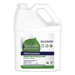 Seventh Generation Professional Disinfecting Kitchen Cleaner, Lemongrass Citrus, 1 gal Bottle