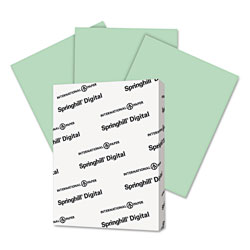 Springhill Digital Index Color Card Stock, 90lb, 8.5 x 11, Green, 250/Pack