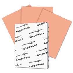 Springhill Digital Index Color Card Stock, 90lb, 8.5 x 11, Salmon, 250/Pack