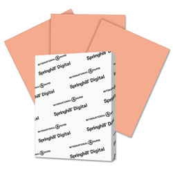 Springhill Digital Index Color Card Stock, 110lb, 8.5 x 11, Salmon, 250/Pack