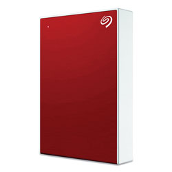 Seagate Backup Plus External Hard Drive, 5 TB, USB 2.0/3.0, Red