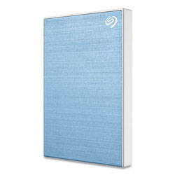 Seagate Backup Plus Slim External Hard Drive, 1 TB, USB2.0/3.0, Blue