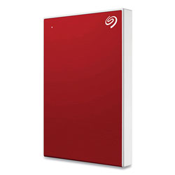 Seagate Backup Plus Slim External Hard Drive, 2 TB, USB2.0/3.0, Red