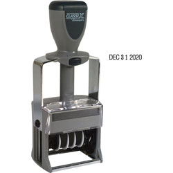 Shachihata. U.S.A. Self Inking Line Dater, 10 Year Dater, Black