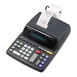 Sharp EL2196BL Two-Color Printing Calculator, Black/Red Print, 3.7 Lines/Sec