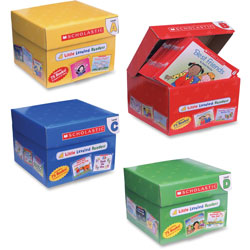 Scholastic Little Leveled Readers Mini Teaching Guide, 75 Books, Five Each of 15 Titles