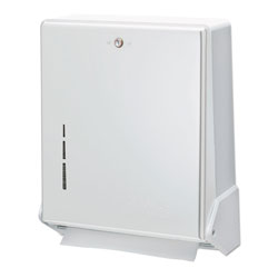 San Jamar True Fold C-Fold/Multifold Paper Towel Dispenser, White, 11 5/8 x 5 x 14 1/2