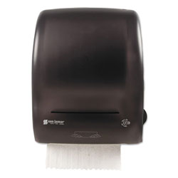 San Jamar Simplicity Mechanical Roll Towel Dispenser, 15.25 in x 13 in x 10.25 in, Black