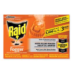Raid Concentrated Deep Reach Fogger, 1.5 oz Aerosol Can, 3/Pack, 12 Packs/Carton