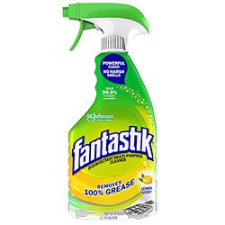 Fantastik Disinfectant Multi-Purpose Cleaner Lemon Scent, 32 oz Spray Bottle, 8/Carton