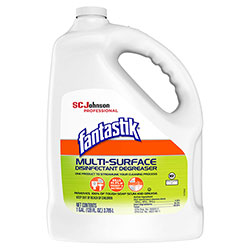Fantastik Multi-Surface Disinfectant Degreaser, Pleasant Scent, 1 Gallon Bottle, 4/Carton